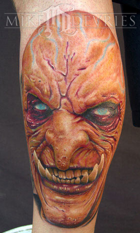 Mike DeVries - Evil Face Tattoo